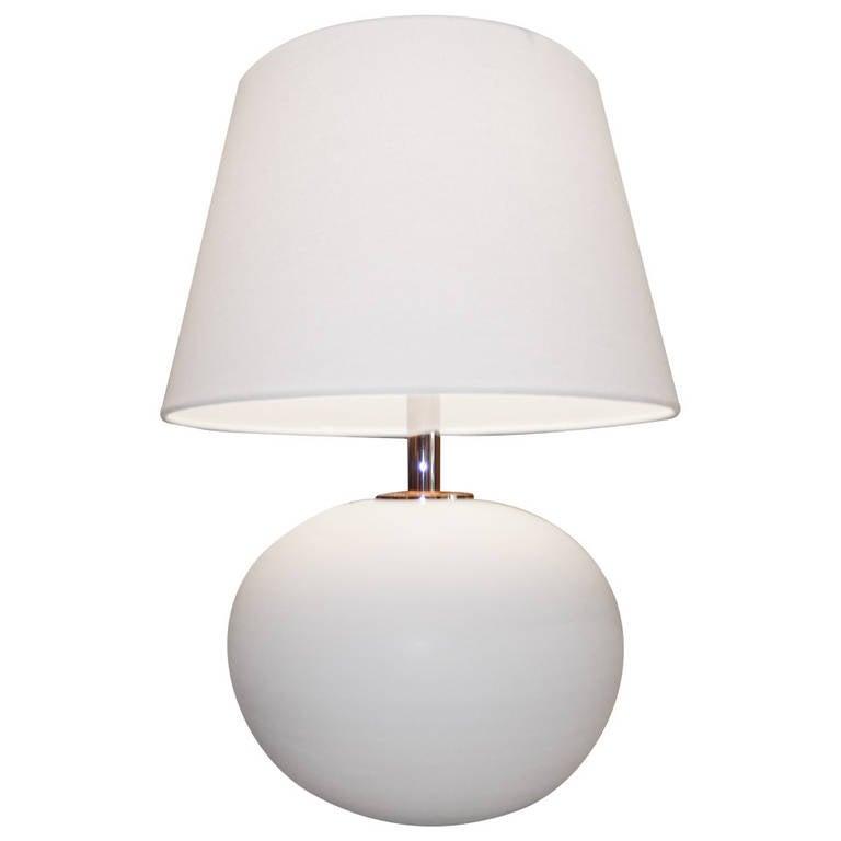 Scandinavian Handcrafted White Ceramic Lamp