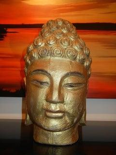Gilded Wooden Buddha