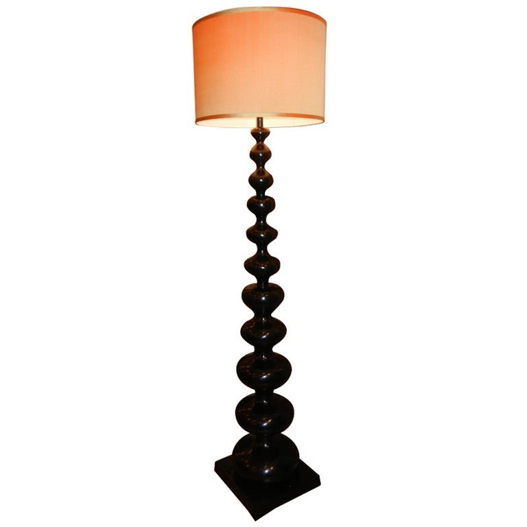 modern barley twist floor lamp at 1stdibs. Black Bedroom Furniture Sets. Home Design Ideas
