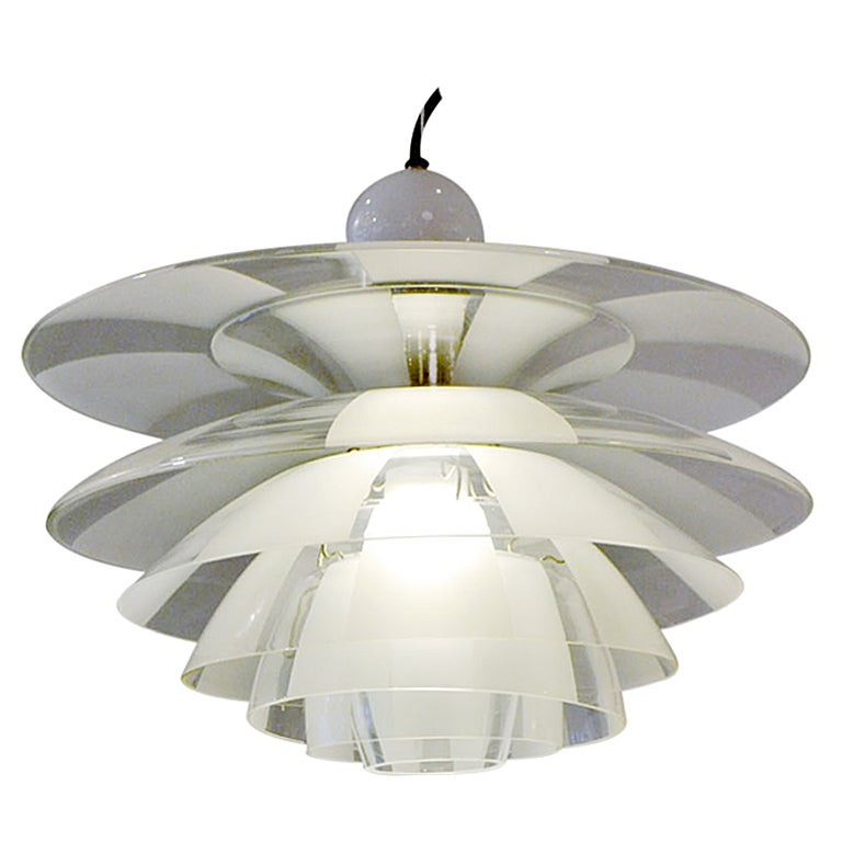 "Early ""Septima"" Chandelier by Poul Henningsen, Denmark 1930s For Sale"