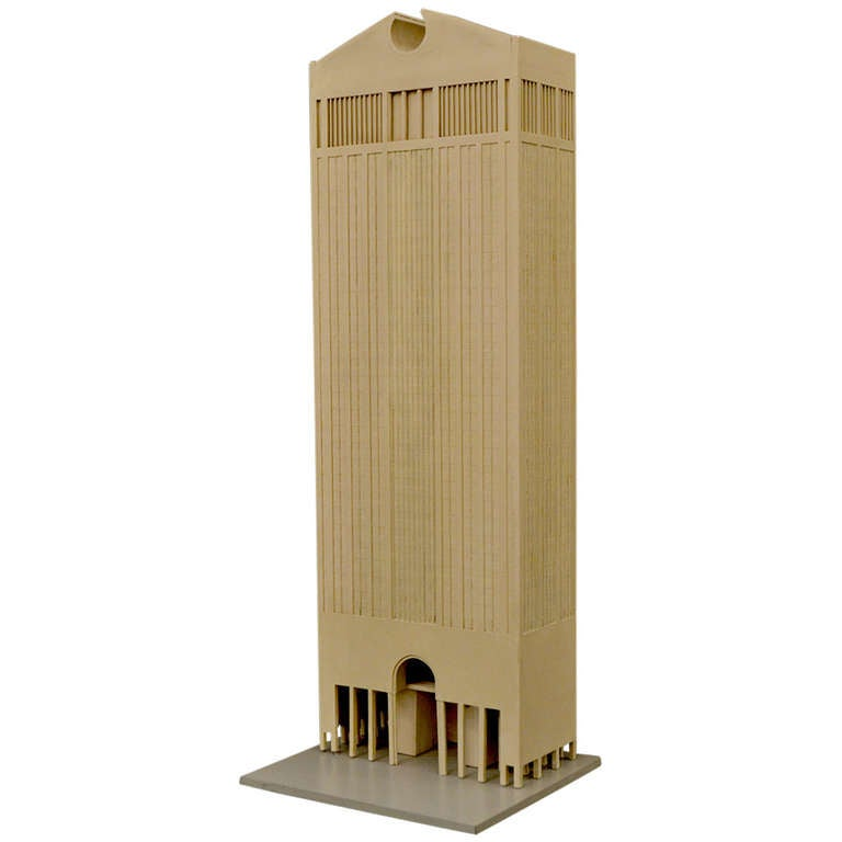Original Architectural Model Of At T Building By Philip