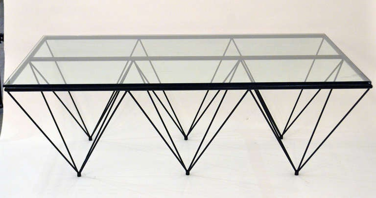 "Geometric ""Alanda"" Coffe Table by Paolo Piva 2"