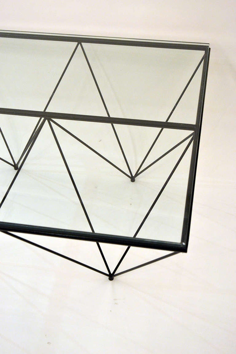 "Geometric ""Alanda"" Coffe Table by Paolo Piva 3"