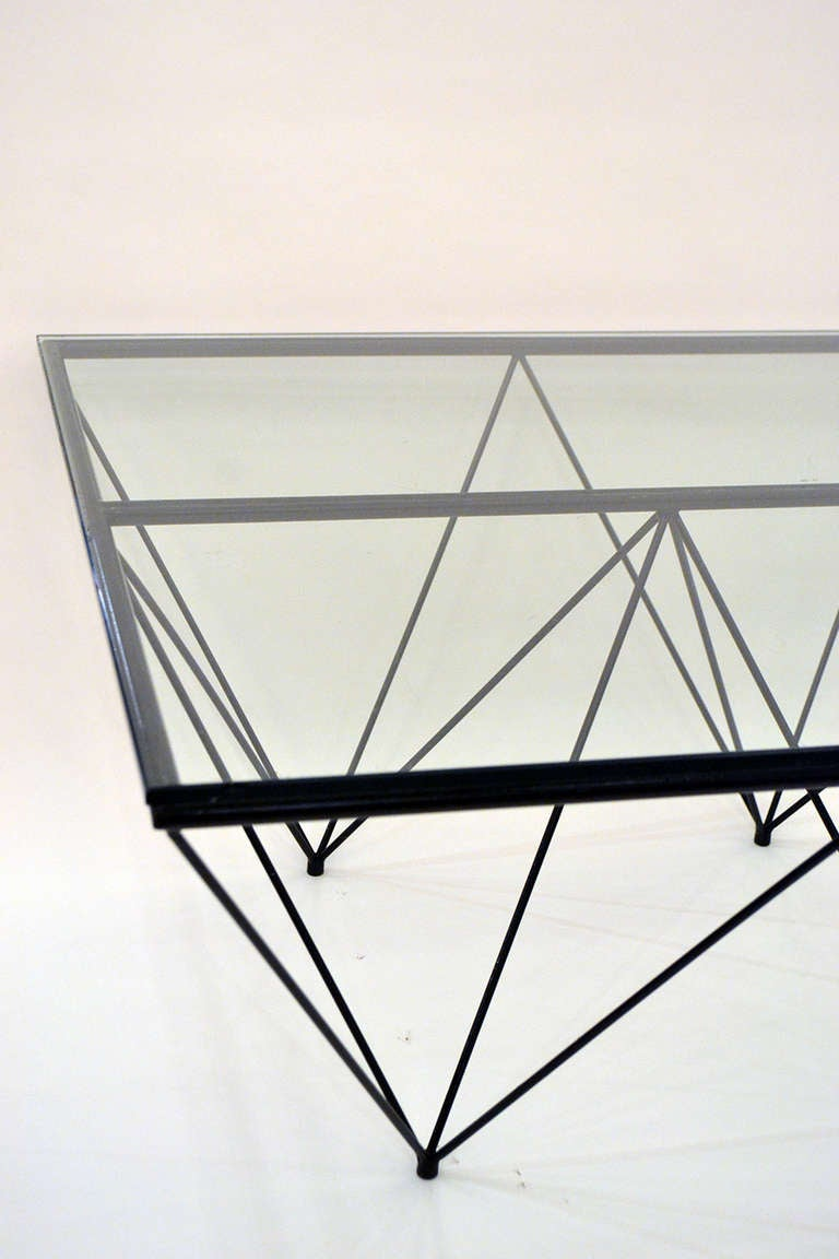 "Geometric ""Alanda"" Coffe Table by Paolo Piva 4"