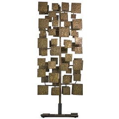 Harry Bertoia Monumental Brass Sculpture Screen for Florence Knoll, USA 1959