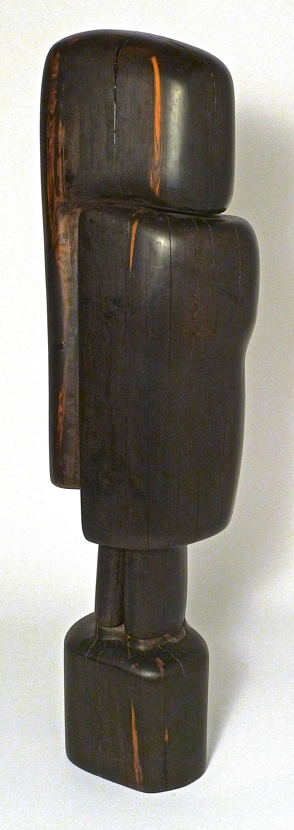 "Monumental and Important Ebony ""Affiniti"" Sculpture by Gino Cosentino 2"