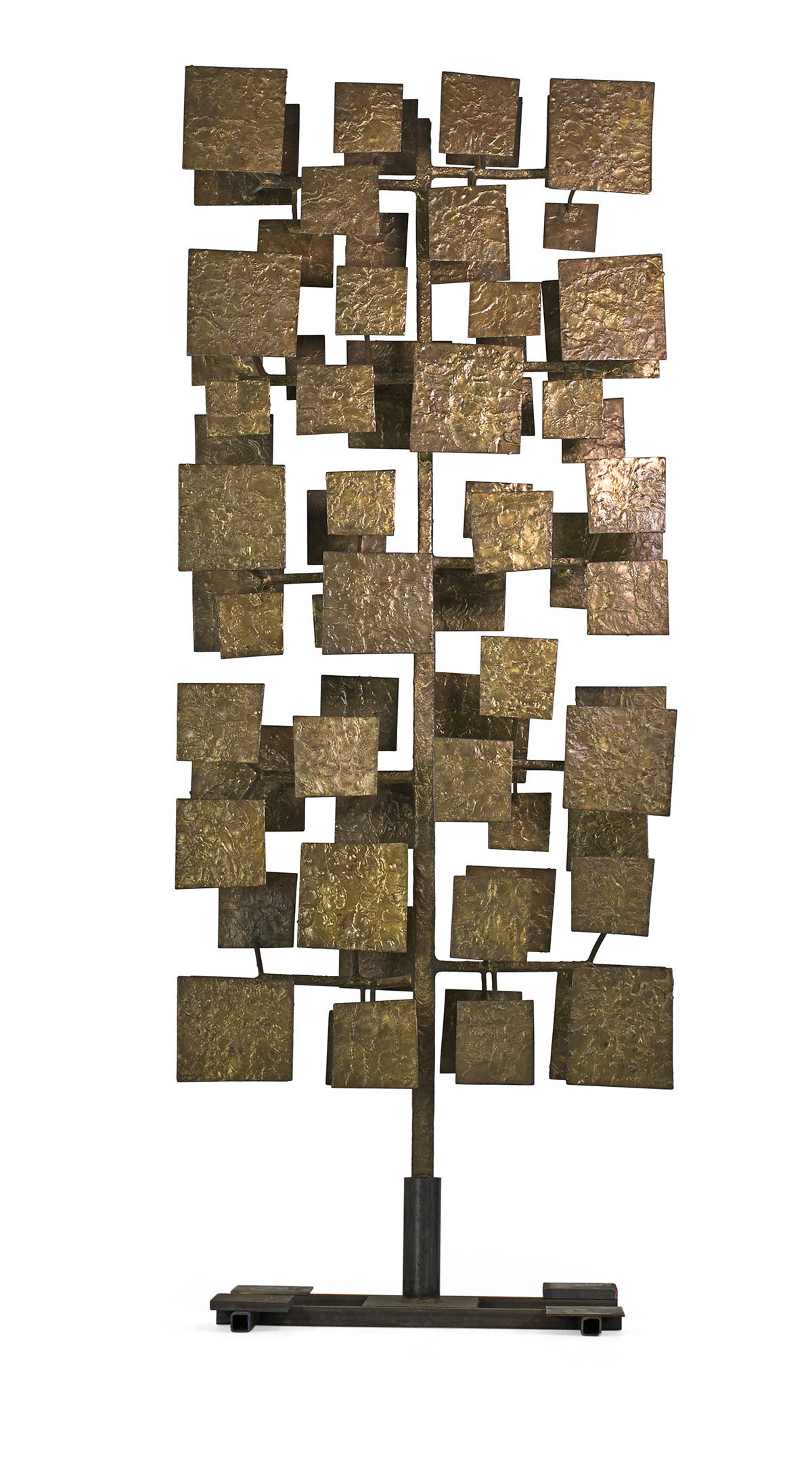 Sculpture screen from a set of ten commissioned by architect and interior designer Florence Knoll for the First National Bank of Miami. The screens were amongst the earliest of approximately fifty commissions Bertoia executed during his career.