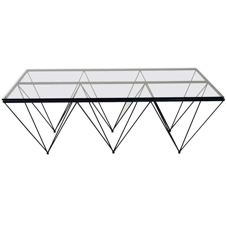 "Geometric ""Alanda"" Coffe Table by Paolo Piva 1"