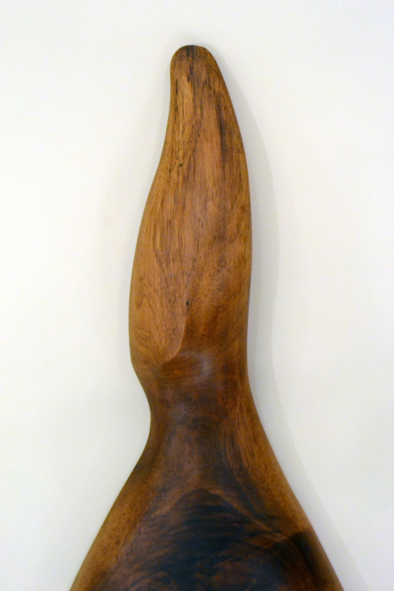 Hand-Carved Walnut Mirror by Dirk Rosse, Usa, 1970s 4