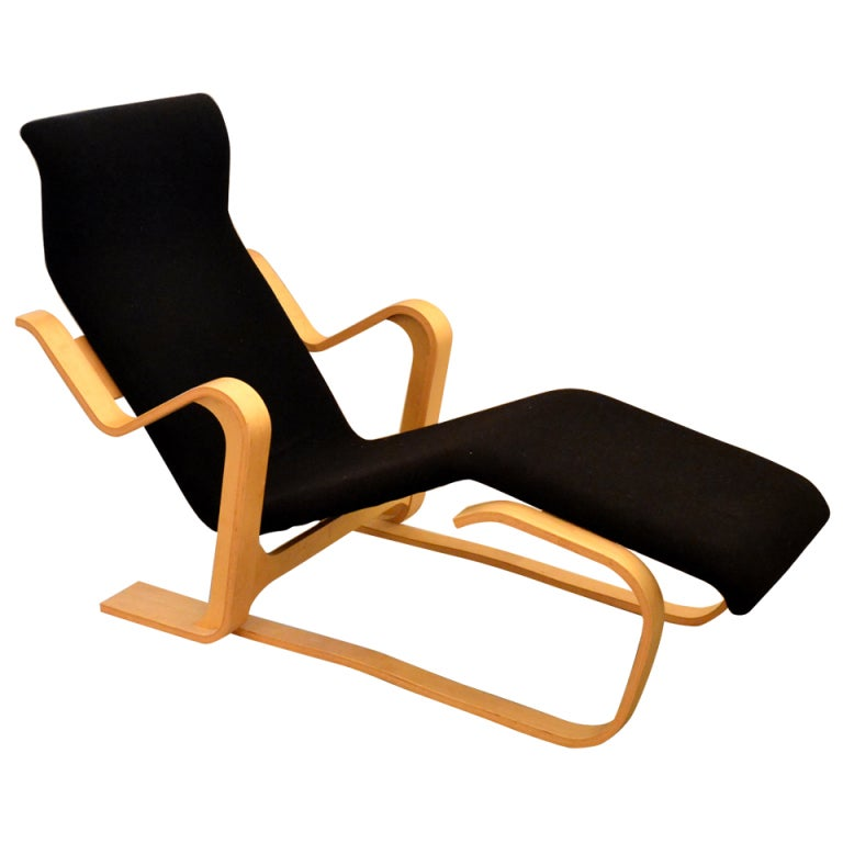 Sculptural lounge chair designed by marcel breuer at 1stdibs for Breuer chaise lounge