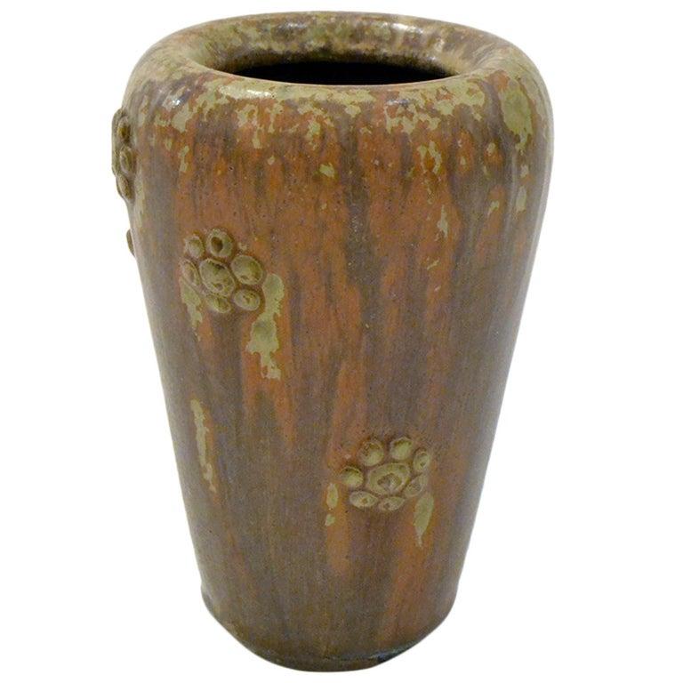 Scandinavian Mid-Century Stoneware Vase by Arne Bang, Denmark, 1950s For Sale