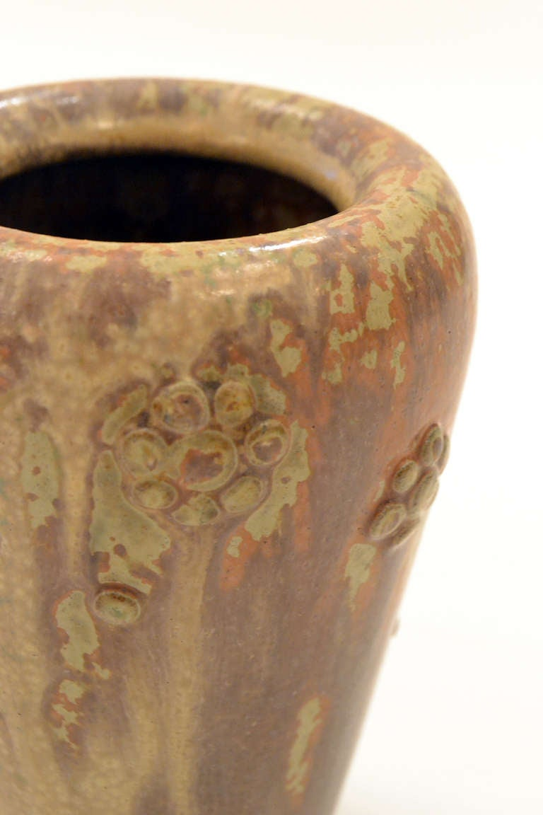 Scandinavian Mid-Century Stoneware Vase by Arne Bang, Denmark, 1950s In Excellent Condition For Sale In New York, NY