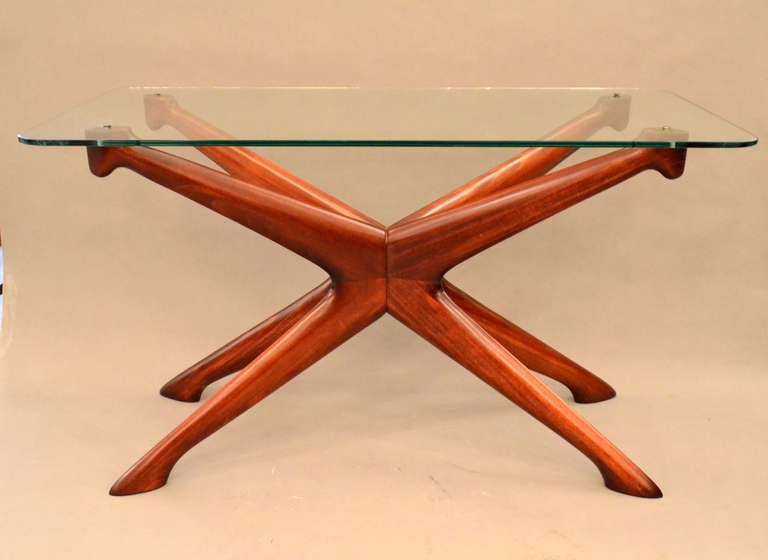 Mid-Century Modern Pair of Mid-Century End Tables by Ico Parisi, Italy, 1950s For Sale