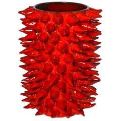 Monumental Budding Vase Signed Pino Esposito