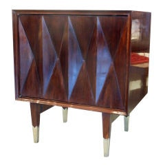 Pair of Diamond Face Nightstands / End Tables  Style of Ponti