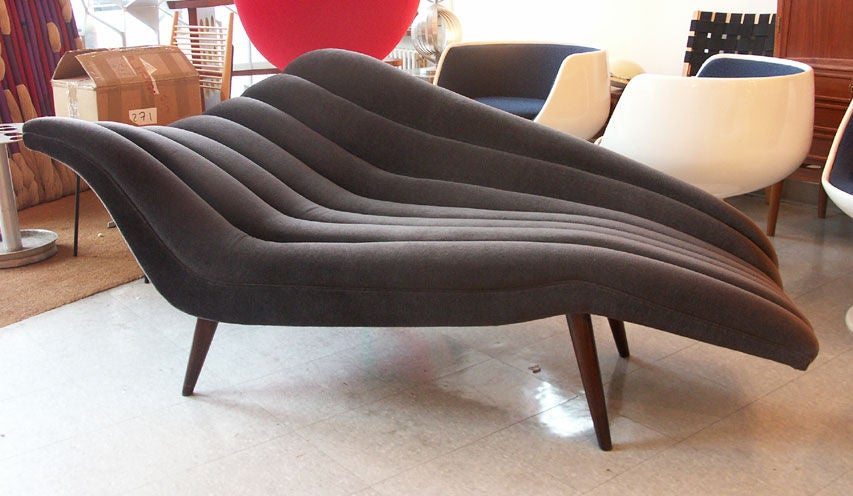 Ultra chic chaise lounge modernist fainting couch at 1stdibs for Antique chaise lounge prices