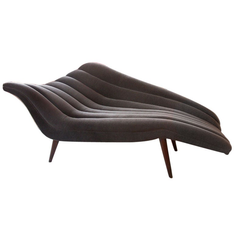Ultra Chic Chaise Lounge Modernist Fainting Couch at 1stdibs