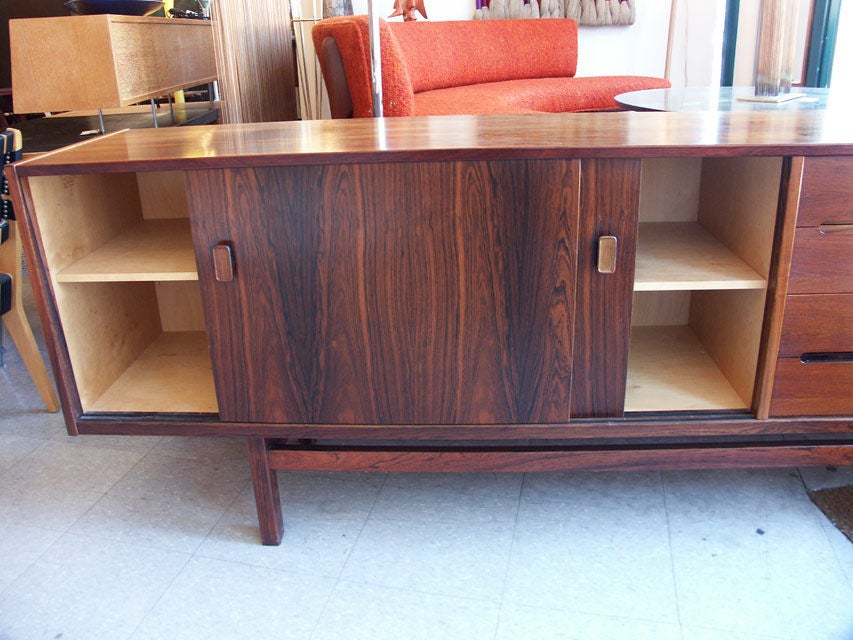 Long Swedish Rosewood Sideboard by Hugo Troeds 2