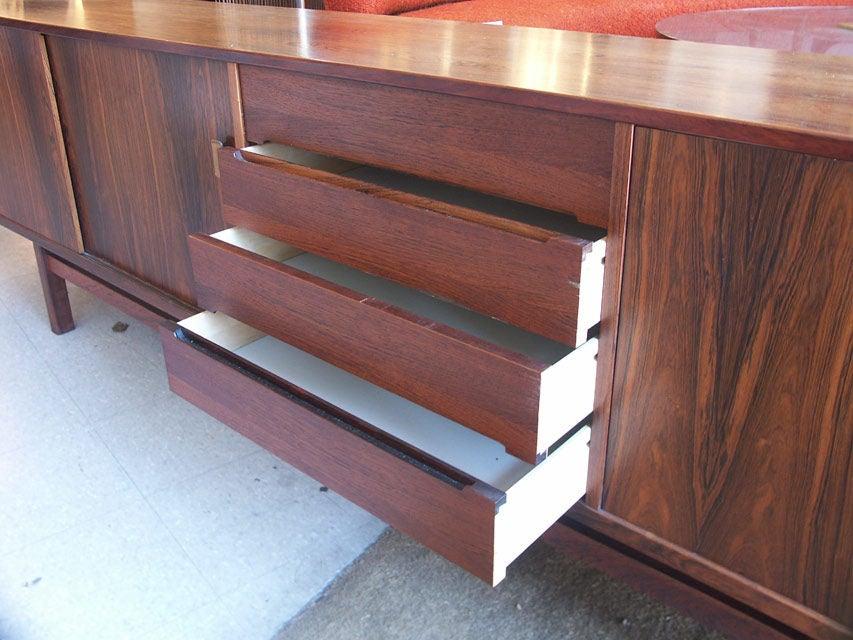 Long Swedish Rosewood Sideboard by Hugo Troeds 4