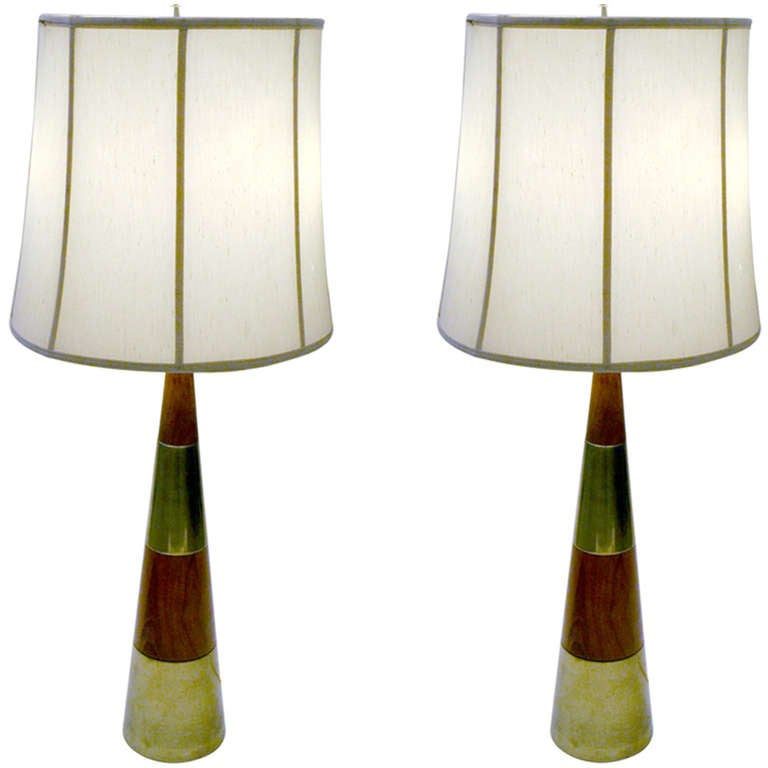 pair of tall table lamps by tony paul at 1stdibs