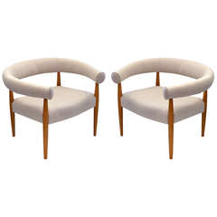 Exceptional Pair of Ring Chairs by Nanna Ditzel