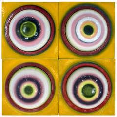 Pop Art Wall Panels by Stefan Knapp (1921-1996)
