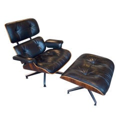 Simply Beautiful Early  Eames Lounge Chair and Ottoman