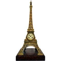 Monumental & Elegant Eiffel Tower Clock
