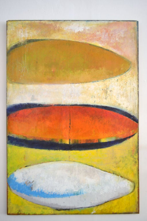 A Minimalist and serene abstract oil painting by Dana Hatchett. The painting is by the second born son of Duayne Hatchett. Dana is an established painter and professor of arts.