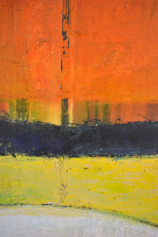 Colorful Abstract Oil Painting by Dana Hatchett In Excellent Condition For Sale In New York, NY