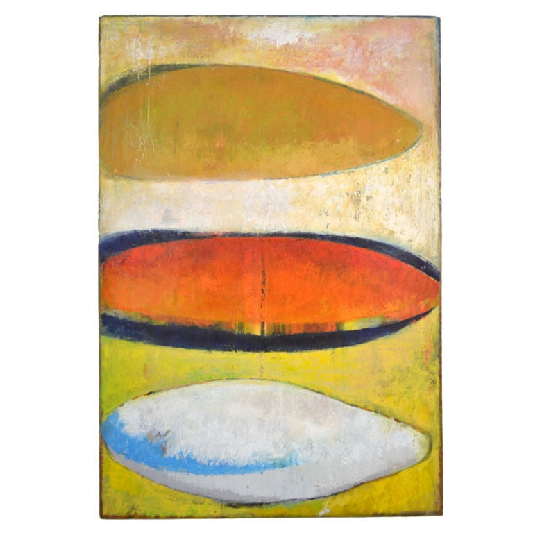 Colorful Abstract Oil Painting by Dana Hatchett For Sale