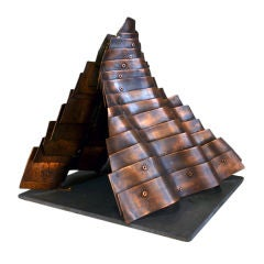 Sculpture Maquette in Copper and Slate by  Duayne Hatchett, USA