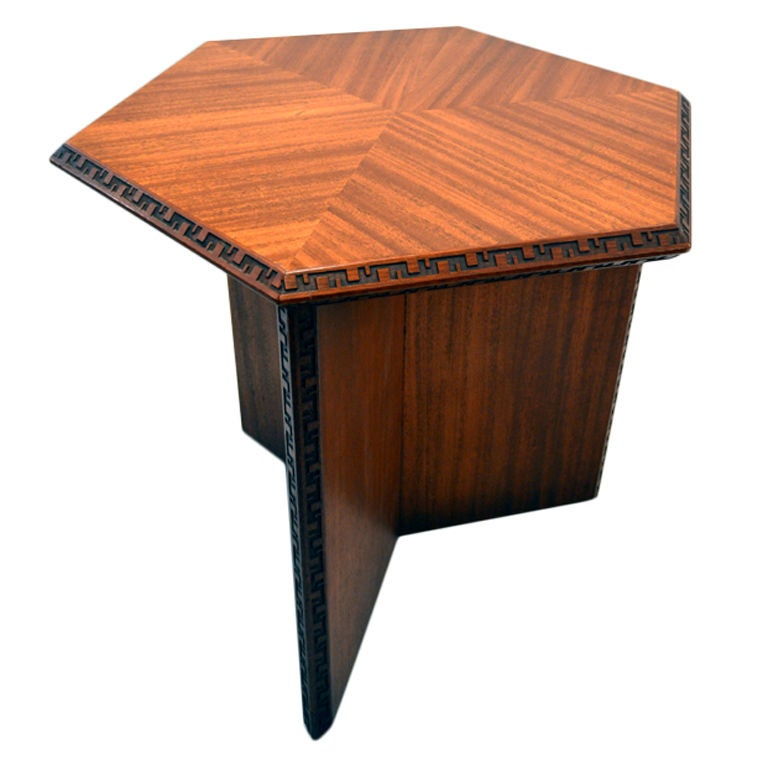 Hexagonal Frank Lloyd Wright Table At 1stdibs