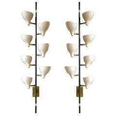 Sarfatti Style Large Multi-Shade Sconces, Italy