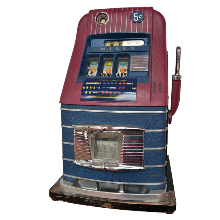 Mills Bell-O-Matic Slot Machine, USA, 1948 For Sale at 1stdibs