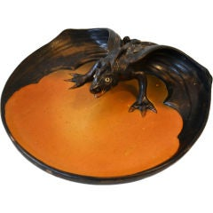 1904 P. Ipsens Enke Ceramic Dragon, Signed and Dated