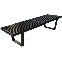 Modern Slat Bench by George Nelson