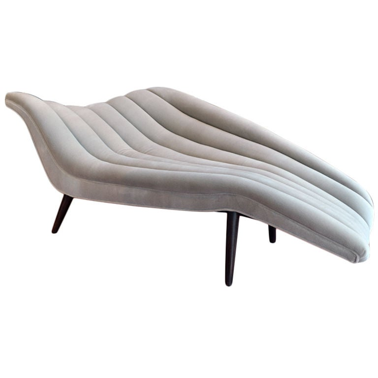 Elegant hans hartl chaise longue at 1stdibs - Chaise longue montreal ...