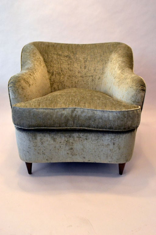 Reproduction of Gio Ponti Club Chair from the Hotel Bristol in Milano, Italy 2