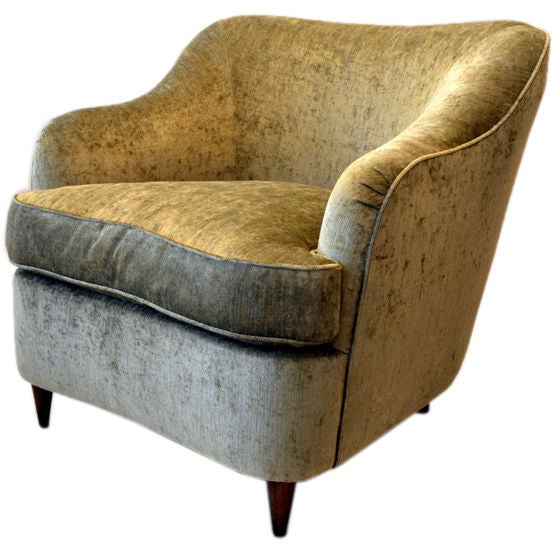 Reproduction of Gio Ponti Club Chair from the Hotel Bristol in Milano, Italy 1