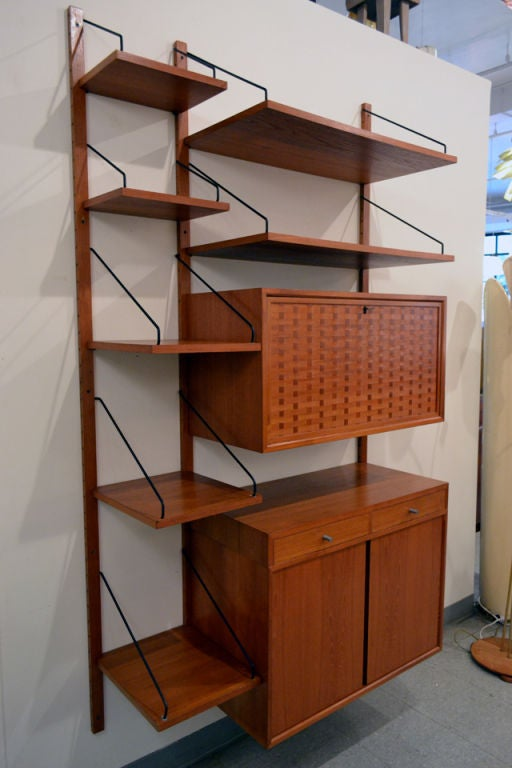 Danish Wonderful Wall Storage System by Poul Cadovius For Sale