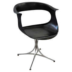 Mid-Century Black Lotus Armchair by Erwine and Estelle Laverne, USA, 1960s