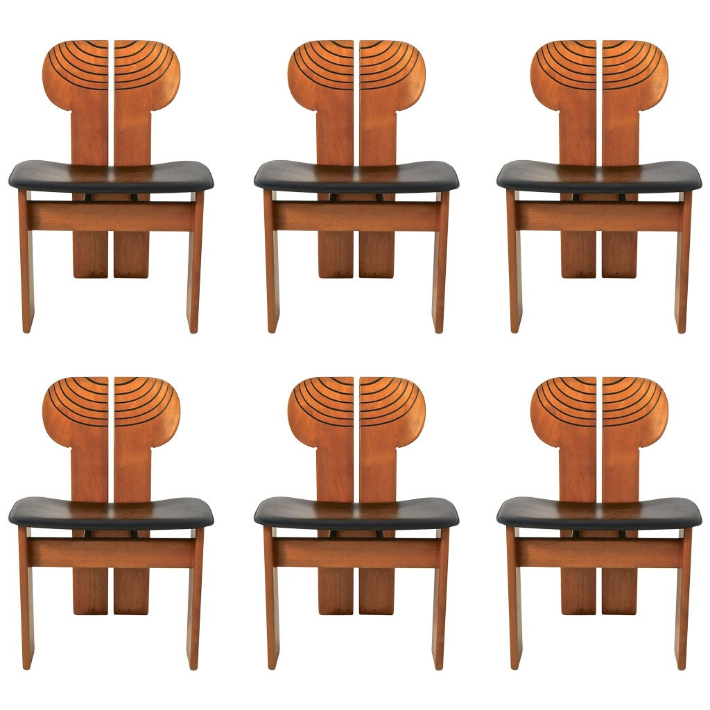 Italian Leather Furniture South Africa: Africa Chairs From Artona Collection By Afra And Tobia