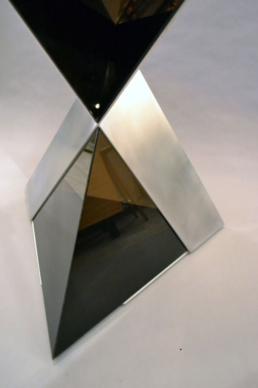 Lucite and Aluminium Pyramidal Sculpture by Duayne Hatchett, USA 1980 For Sale 2