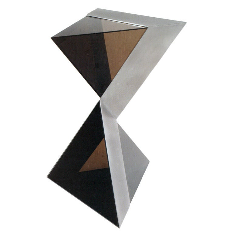 Lucite and Aluminium Pyramidal Sculpture by Duayne Hatchett, USA 1980 For Sale