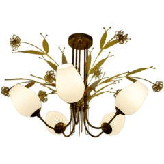 Paavo Tynell for Lightolier 1950's Chandelier