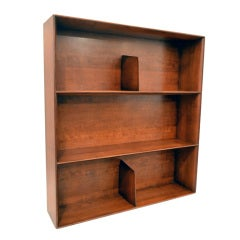 Modernist Sculpted Wall Bookcase by Gio Ponti