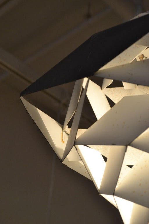 Sculptural Harlequin Suspension Light by Preben Dahl 4