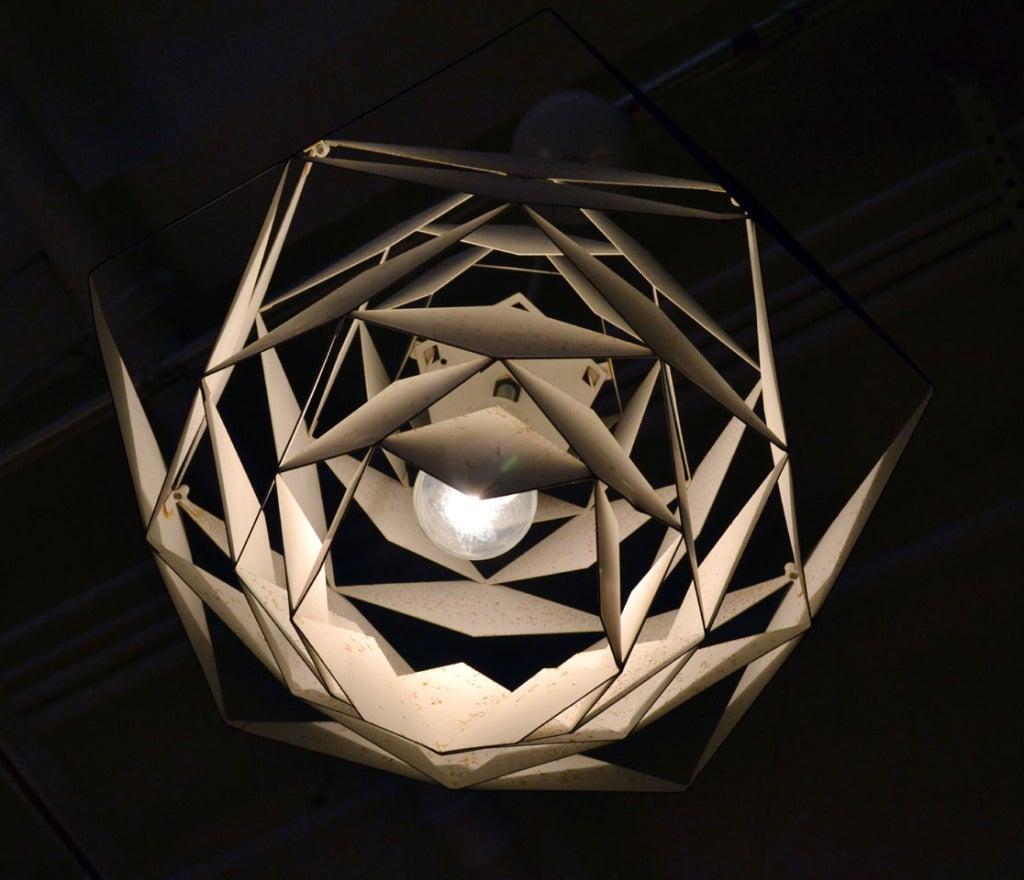 Sculptural Harlequin Suspension Light by Preben Dahl 5