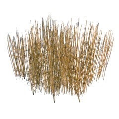 "Rare and fine ""Sunlit Straw"" sculpture by Harry Bertoia"